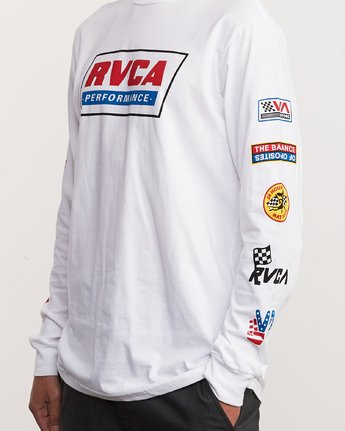 7 Indianapolis Long Sleeve T-Shirt White M451URIN RVCA