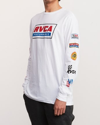 4 Indianapolis Long Sleeve T-Shirt White M451URIN RVCA