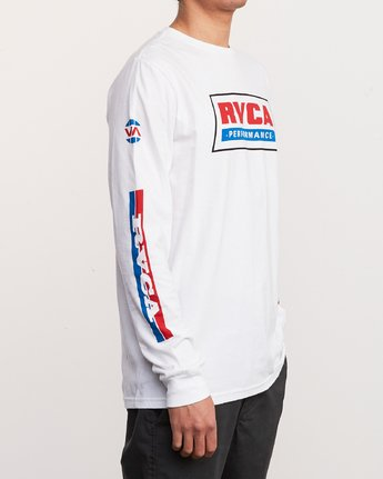 5 Indianapolis Long Sleeve T-Shirt White M451URIN RVCA