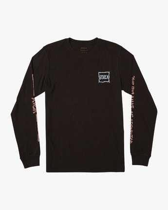 1 Sludged Long Sleeve T-Shirt Black M451URSL RVCA