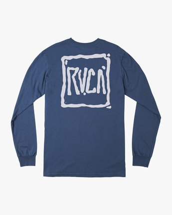 0 Sludged Long Sleeve T-Shirt Blue M451URSL RVCA