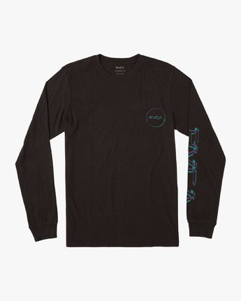 1 Big Glitch Long Sleeve T-Shirt Black M451VRBG RVCA