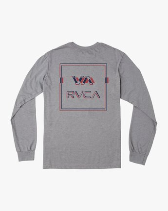 0 Big Glitch Long Sleeve T-Shirt Grey M451VRBG RVCA