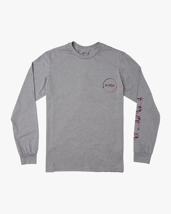 1 Big Glitch Long Sleeve T-Shirt Grey M451VRBG RVCA