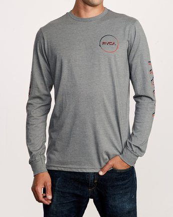 2 Big Glitch Long Sleeve T-Shirt Grey M451VRBG RVCA
