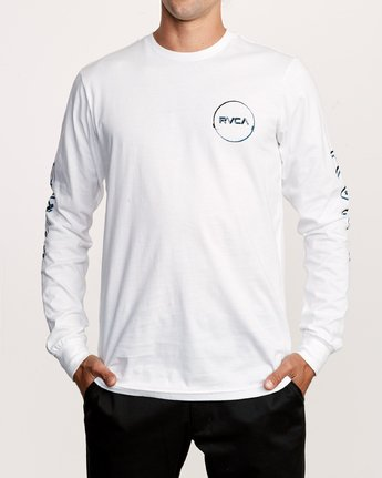 2 Big Glitch Long Sleeve T-Shirt White M451VRBG RVCA