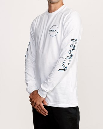 3 Big Glitch Long Sleeve T-Shirt White M451VRBG RVCA