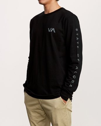 2 Da Aina Sphere Long Sleeve T-Shirt Black M451VRDA RVCA