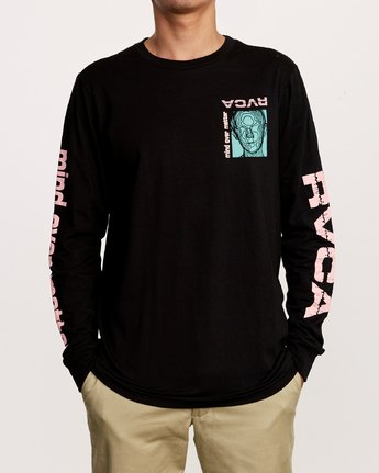2 Matter Long Sleeve T-Shirt Black M451VRMA RVCA