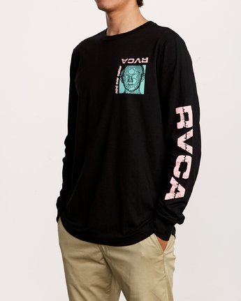 3 Matter Long Sleeve T-Shirt Black M451VRMA RVCA