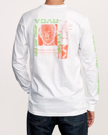 6 Matter Long Sleeve T-Shirt White M451VRMA RVCA