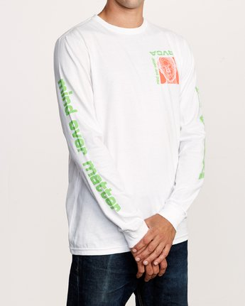 5 Matter Long Sleeve T-Shirt White M451VRMA RVCA