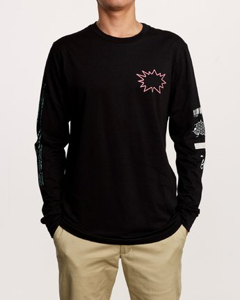2 TV Dinner Long Sleeve T-Shirt Black M451VRTV RVCA