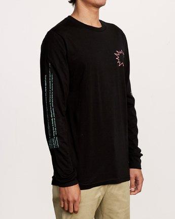 4 TV Dinner Long Sleeve T-Shirt Black M451VRTV RVCA