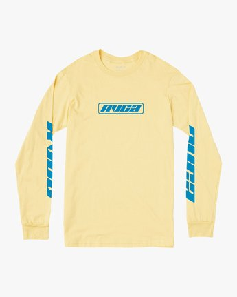 0 Warehouse Long Sleeve T-Shirt Yellow M451VRWA RVCA