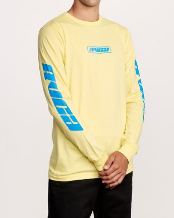 3 Warehouse Long Sleeve T-Shirt Yellow M451VRWA RVCA