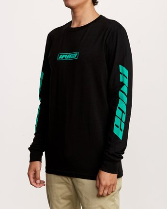 2 Warehouse Long Sleeve T-Shirt Black M451VRWA RVCA