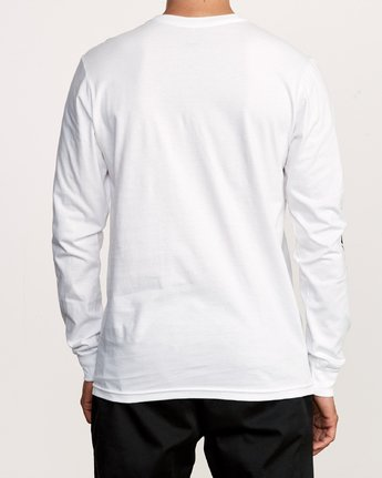 4 Warehouse Long Sleeve T-Shirt White M451VRWA RVCA