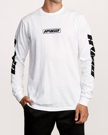 1 Warehouse Long Sleeve T-Shirt White M451VRWA RVCA