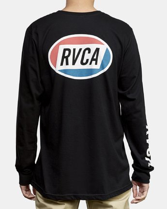 4 Cortex Long Sleeve T-Shirt Black M451WRCT RVCA