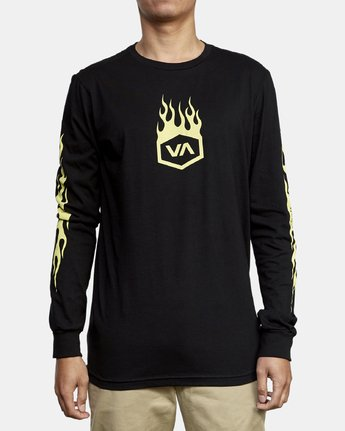 1 Forged Long Sleeve T-Shirt Black M451WRFO RVCA