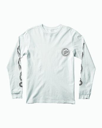 1 JeanJean Skull Wire Aloha Long Sleeve T-Shirt White M451WRSK RVCA