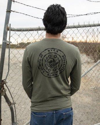 1 JeanJean Skull Wire Aloha Long Sleeve T-Shirt Green M451WRSK RVCA