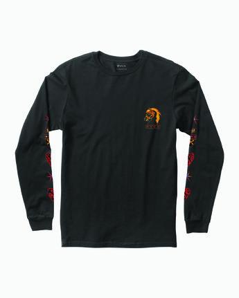 1 Ben Venom Strategic Planning Long Sleeve T-Shirt Black M451WRSP RVCA