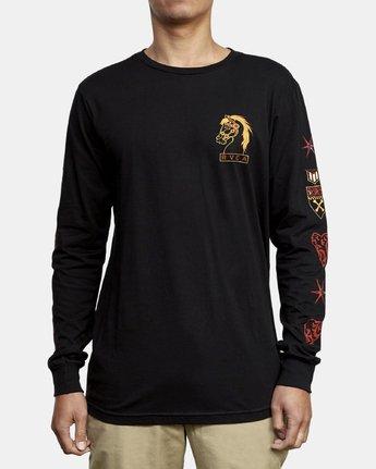 2 Ben Venom Strategic Planning Long Sleeve T-Shirt Black M451WRSP RVCA