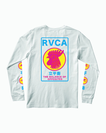 0 Take Out Long Sleeve T-Shirt White M451WRTA RVCA