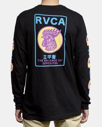 6 Take Out Long Sleeve T-Shirt Black M451WRTA RVCA