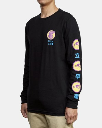 4 Take Out Long Sleeve T-Shirt Black M451WRTA RVCA