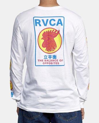 4 Take Out Long Sleeve T-Shirt White M451WRTA RVCA