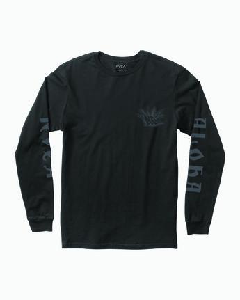1 JeanJean Tiger Portrait Long Sleeve T-Shirt Black M451WRTI RVCA