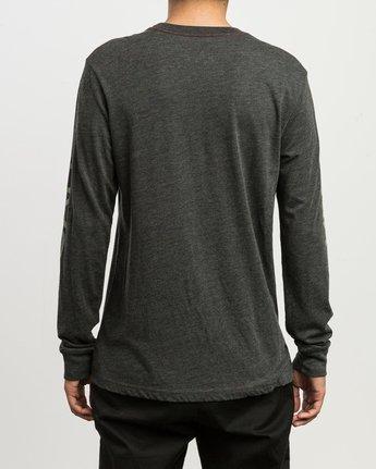 3 Big RVCA Long Sleeve T-Shirt Black M452SRBI RVCA