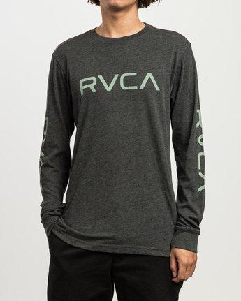 1 Big RVCA Long Sleeve T-Shirt Black M452SRBI RVCA