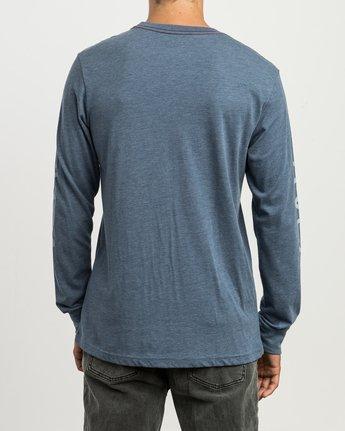 3 Big RVCA Long Sleeve T-Shirt Blue M452SRBI RVCA