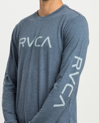4 Big RVCA Long Sleeve T-Shirt Blue M452SRBI RVCA