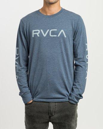1 Big RVCA Long Sleeve T-Shirt Blue M452SRBI RVCA