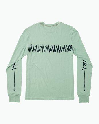 1 Dry Brush Long Sleeve T-Shirt Green M453QRDR RVCA