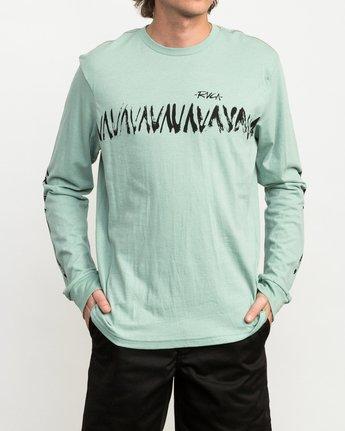 3 Dry Brush Long Sleeve T-Shirt Green M453QRDR RVCA