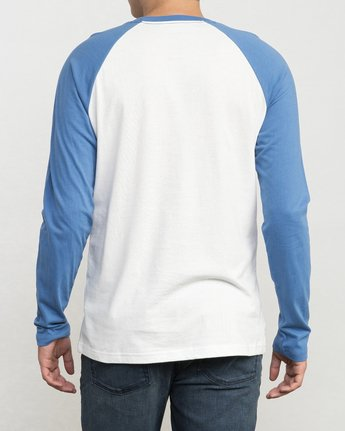 3 Flip Lip Long Sleeve Baseball Raglan  M454PRFL RVCA