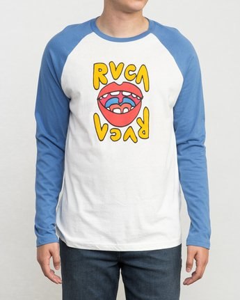 1 Flip Lip Long Sleeve Baseball Raglan  M454PRFL RVCA