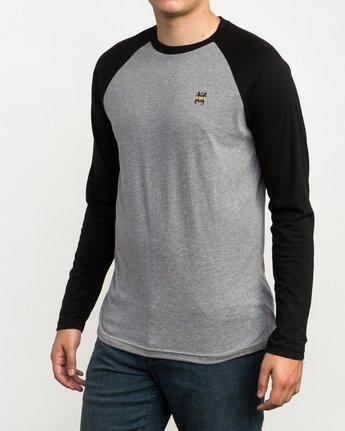 2 Chest Crest Raglan T-Shirt  M454QRCH RVCA