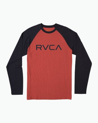 0 Big RVCA Baseball Raglan T-Shirt  M454SRBI RVCA