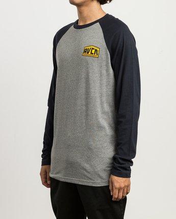 3 Roadside Baseball Raglan T-Shirt  M454SRRO RVCA