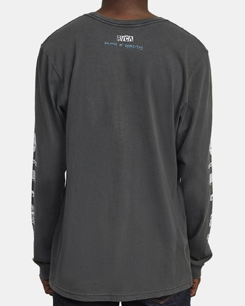 6 ENDLESS SEARCH LONG SLEEVE TEE Black M4551RES RVCA