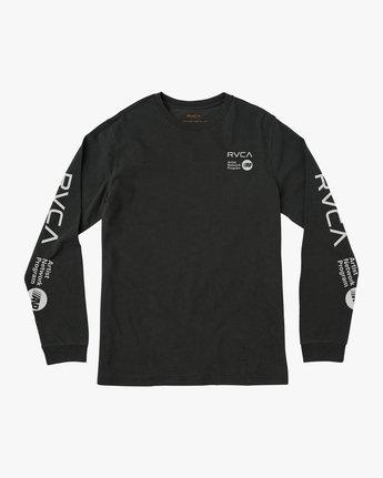 0 RVCA ANP Pigment Long Sleeve T-Shirt Black M456QRRV RVCA