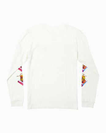 1 Spanky Gallop Long Sleeve T-Shirt White M456WRGA RVCA