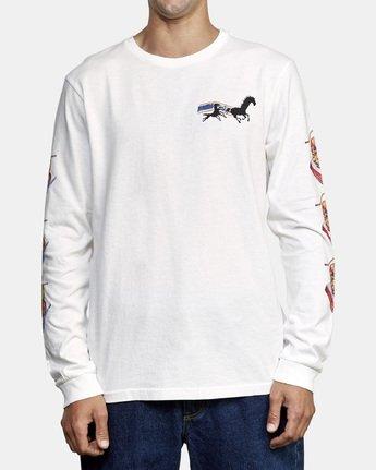 2 Spanky Gallop Long Sleeve T-Shirt White M456WRGA RVCA